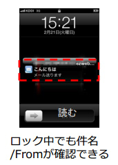 au iPhoneのメールリアルタイム受信は3/13から対応します!